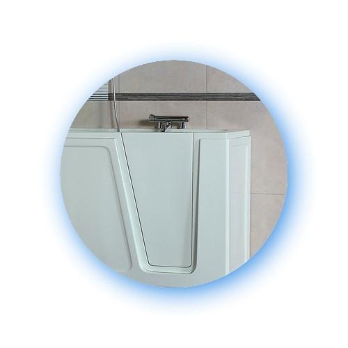 Wanna z drzwiami to produkt elegancki i praktyczny.