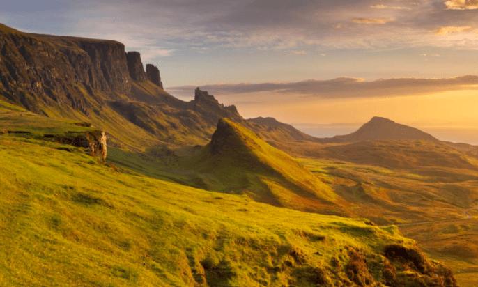 Quiraing - niesamowite formacje skalne na Skye