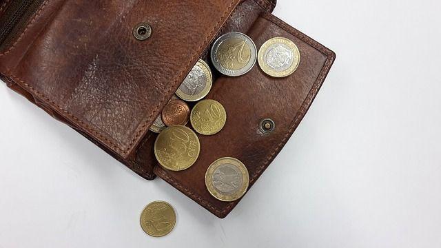 Otwarty portfel z pieniędzmi