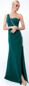 zielona suknia