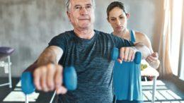Aktywny senior uprawia sport