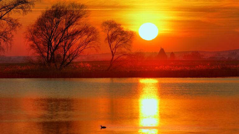 zachód słońca w busko zdroju