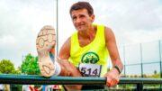 Senior sportowiec biegacz